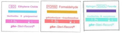 заказать, купить 3-рядкові подвійні клею документаційні етикетки з індікаторамі стерилізації по низкой цене в Украине