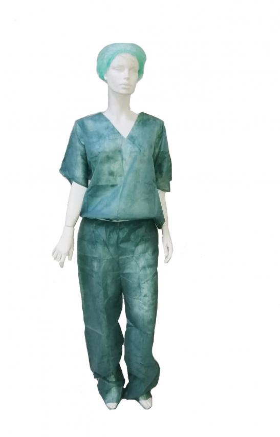 заказать, купить Костюм хірургічний з коротким рукавом, не стерильний, спанбонд 30г / м² по низкой цене в Украине