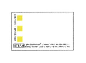 заказать, купить Індикатори моніторингу упаковки для процесів парової стерилізації C-S-P-5-58x35-SV1. Клас 5. по низкой цене в Украине