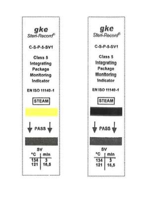 заказать, купить Індикатори моніторингу упаковки для процесів парової стерилізації C-S-P-5-SV1. Клас 5. по низкой цене в Украине