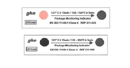заказать, купить Індикатори моніторингу упаковки для процесів парової стерилізації C-S-P-4-SV1. Клас 4. по низкой цене в Украине