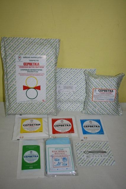 заказать, купить Кровоспинні серветки для обробки ран по низкой цене в Украине